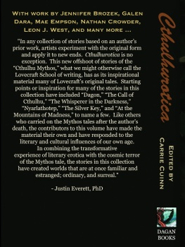 The Back Cover ...